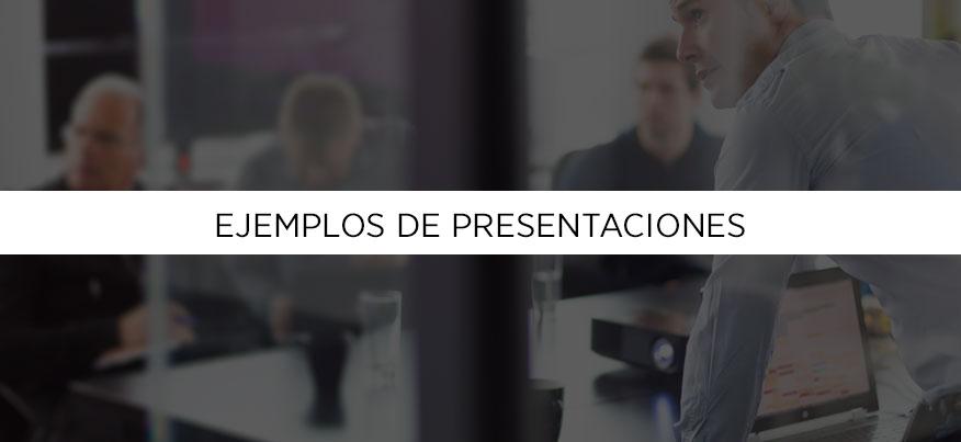 Ejemplos de presentaciones, antes y después.