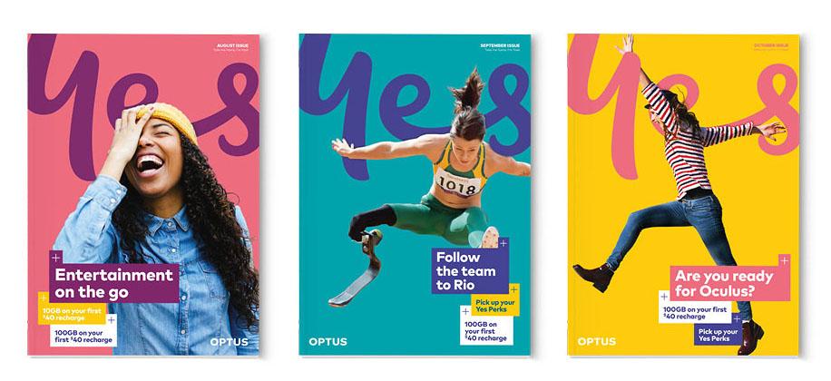 Rebranding de la marca Optus.